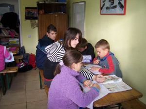 Rodica at the Homework club